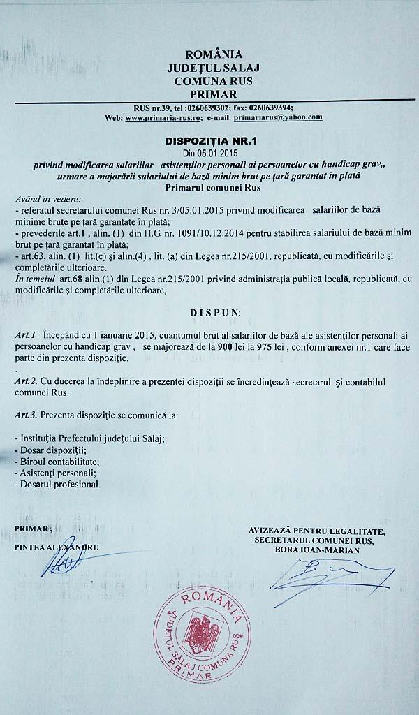 Rus-Dispozitia primarului nr.1-2015