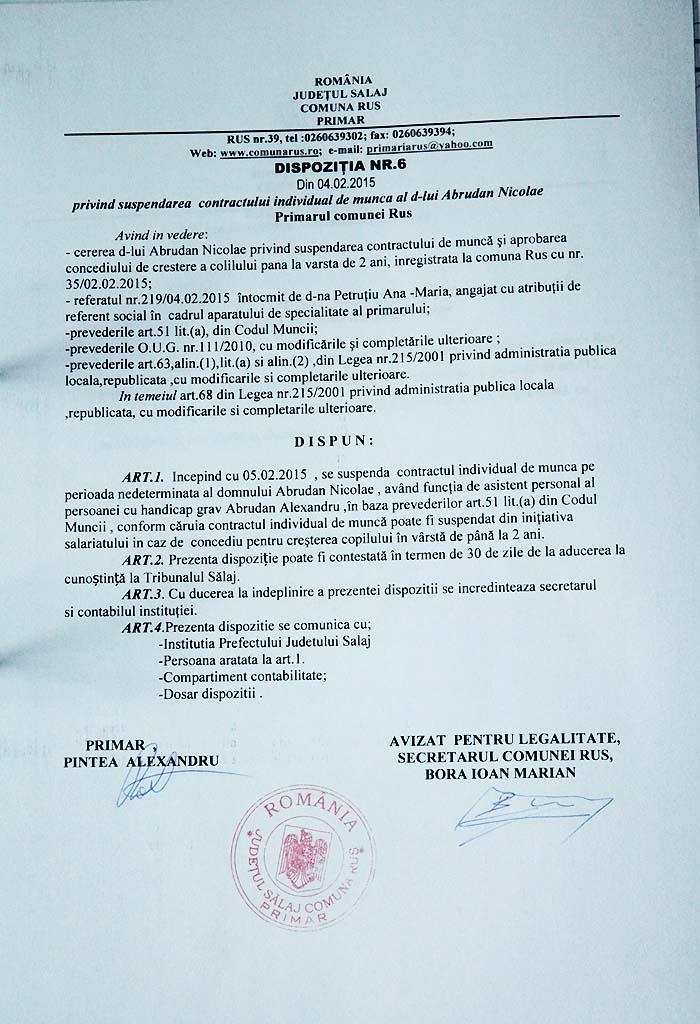Rus-Dispozitia primarului nr6-2015
